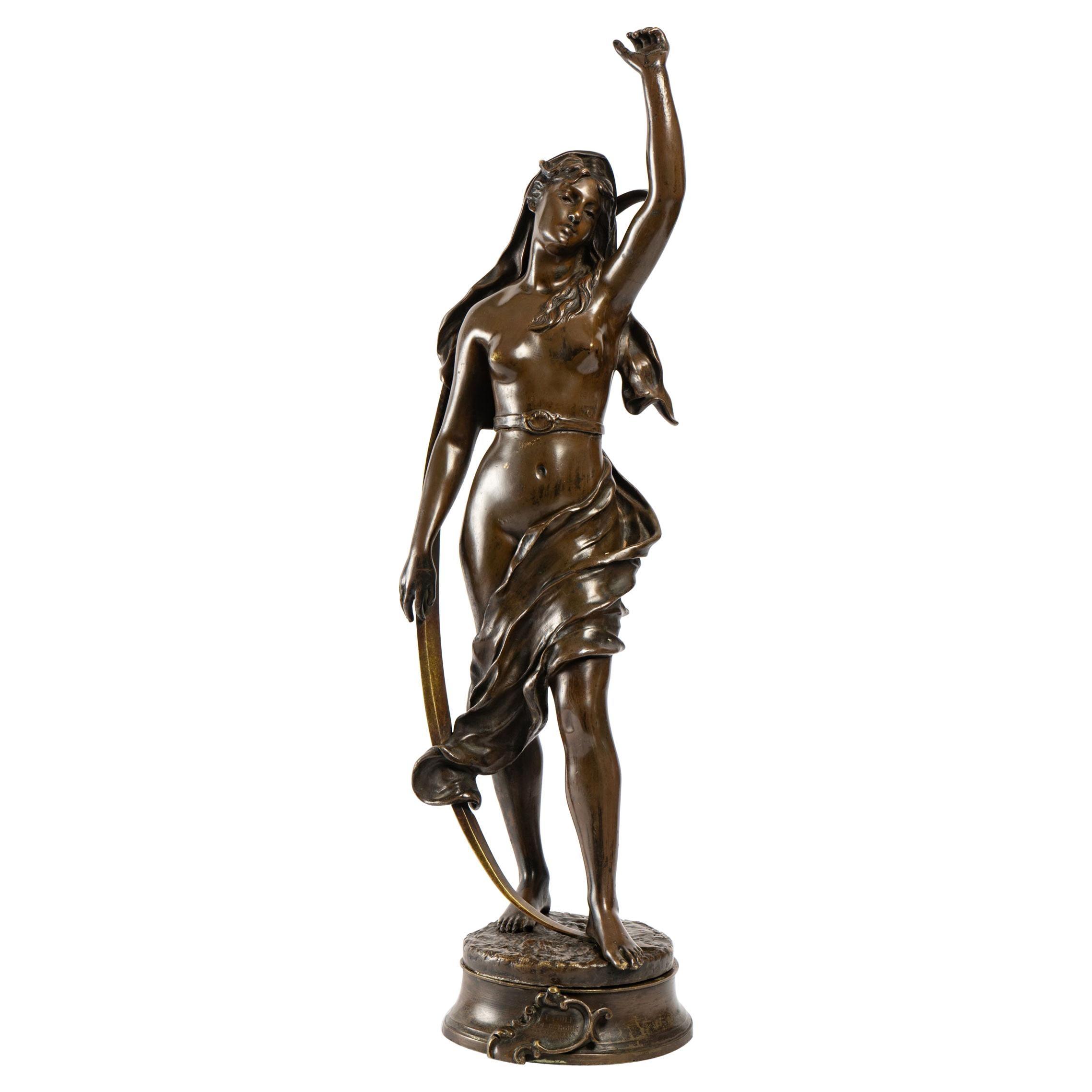 Aurore, Bronze by Henri Louis Levasseur