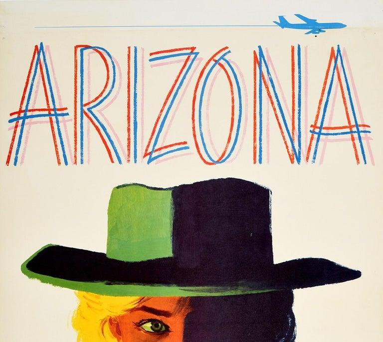 Original Vintage Poster Arizona Fly TWA Travel Advertising Trans World Airlines  - Print by Austin Briggs