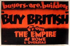 Large Original Vintage Empire Marketing Board Poster Buy British From The Empire