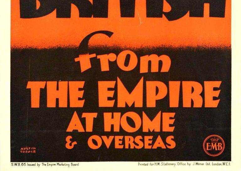 Original Vintage Empire Marketing Board Poster Buy British Trade Home & Overseas - Black Print by Austin Cooper