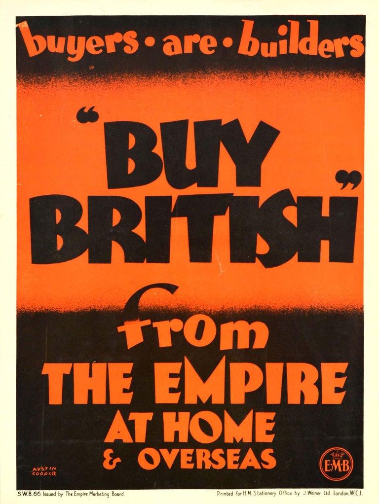 Austin Cooper Print - Original Vintage Empire Marketing Board Poster Buy British Trade Home & Overseas