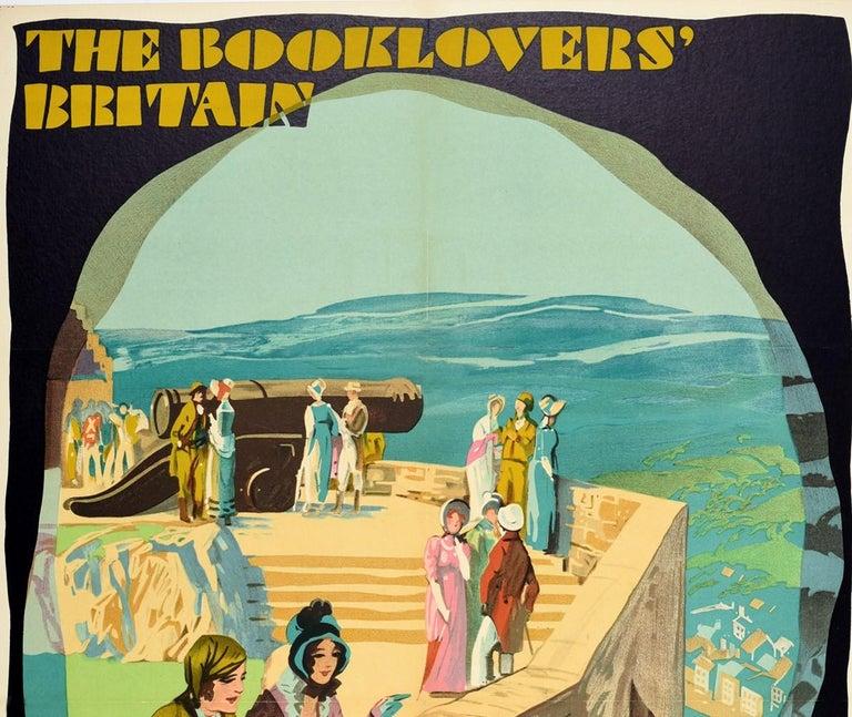 Original Vintage LNERailway Poster Booklovers Britain Edinburgh Castle Stevenson - Print by Austin Cooper