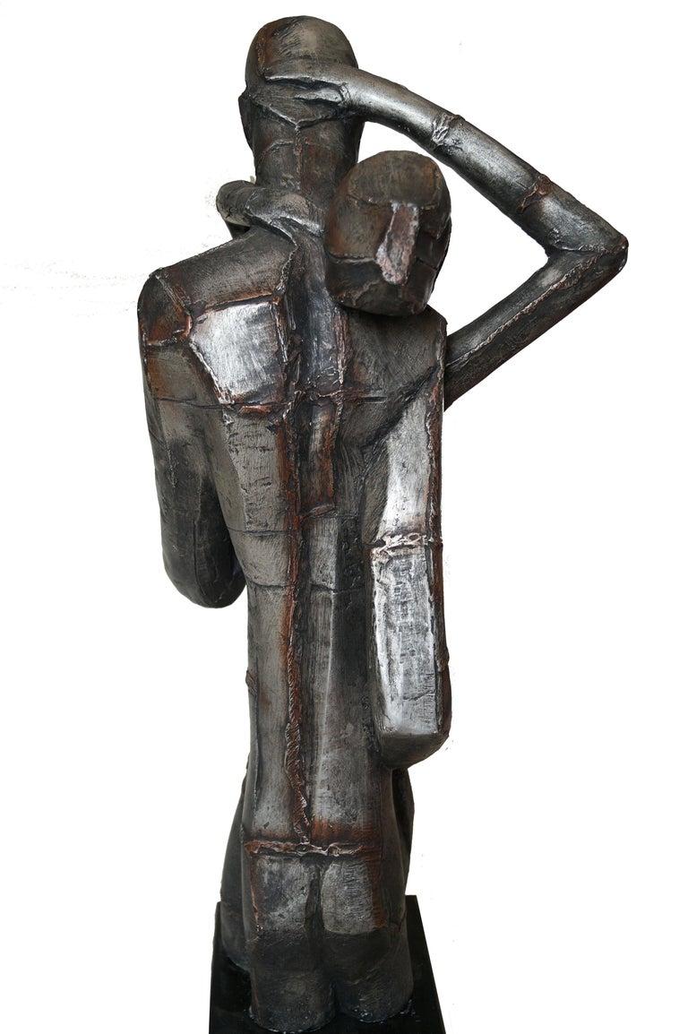 Austin Productions Brutalist Large Sculpture Lovers Man Woman Gothic Frakenstein For Sale 2
