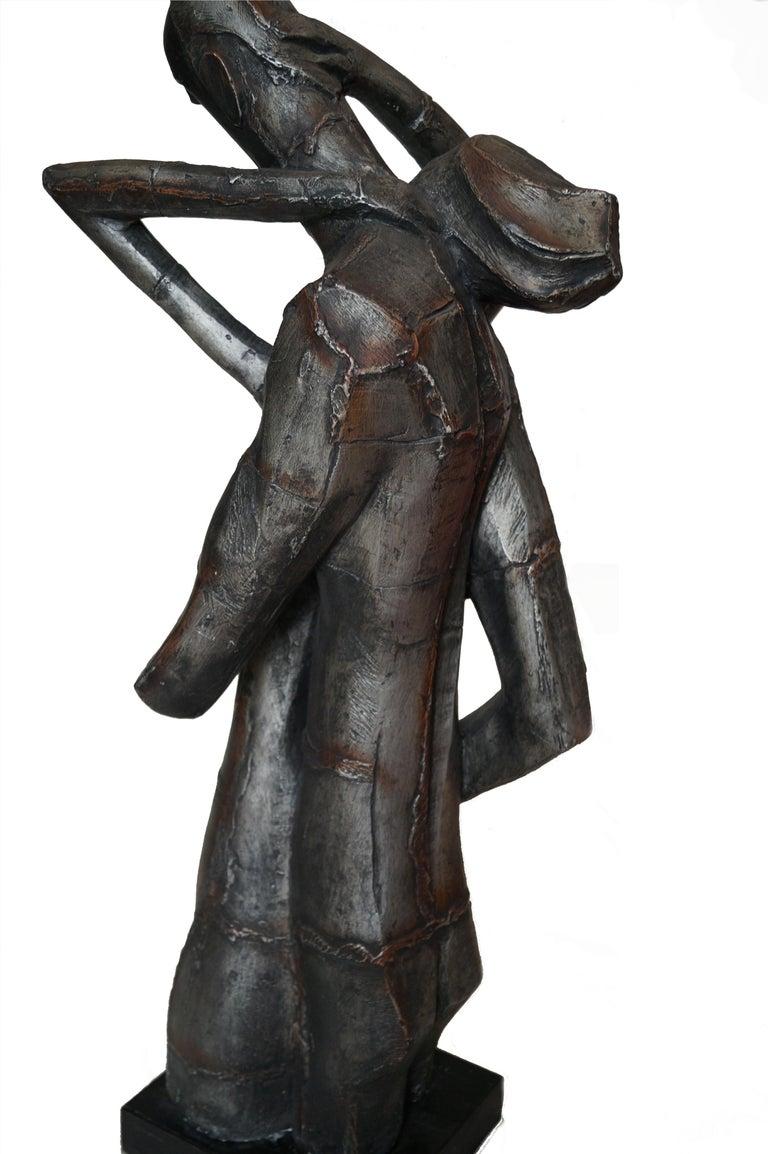 Austin Productions Brutalist Large Sculpture Lovers Man Woman Gothic Frakenstein For Sale 3