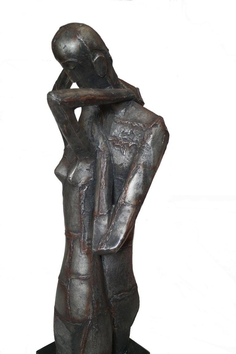 Austin Productions Brutalist Large Sculpture Lovers Man Woman Gothic Frakenstein For Sale 4