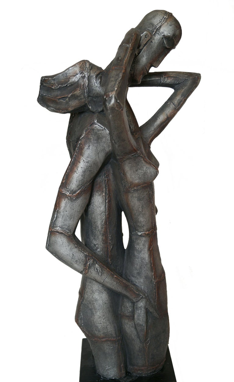 Other Austin Productions Brutalist Large Sculpture Lovers Man Woman Gothic Frakenstein For Sale