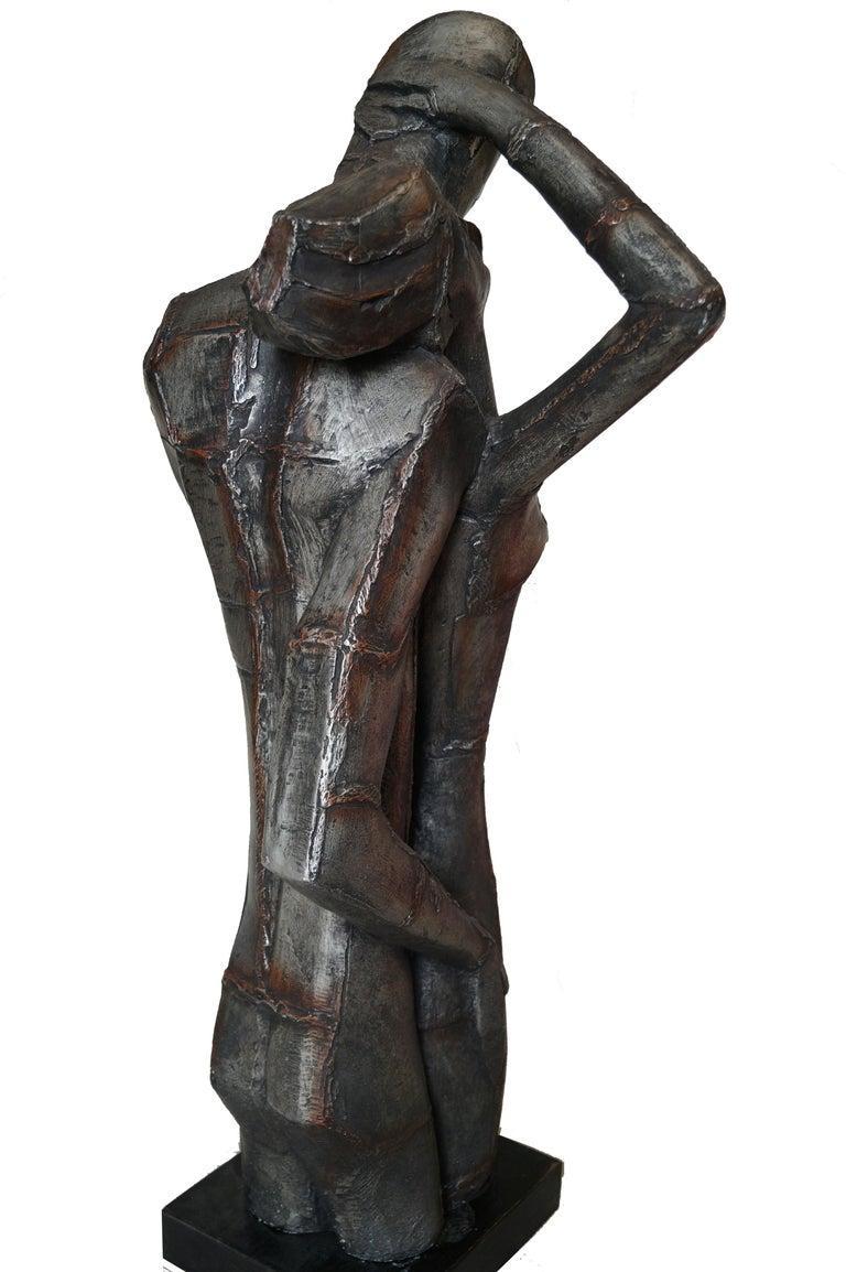 Austin Productions Brutalist Large Sculpture Lovers Man Woman Gothic Frakenstein For Sale 1