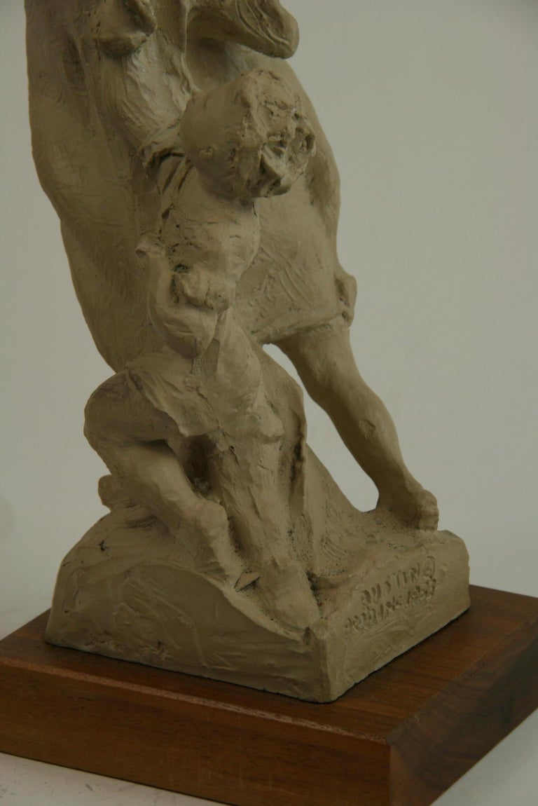 Mother and Small Children Sculpture by Austin Production 1978 For Sale 6
