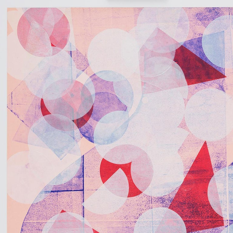 Pink with White Circles (Left Panel) - Print by Austin Thomas