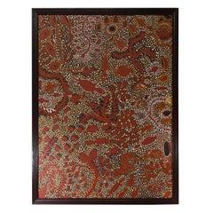 Australian Aboriginal Art Marcia Purdie Oil On Canvas