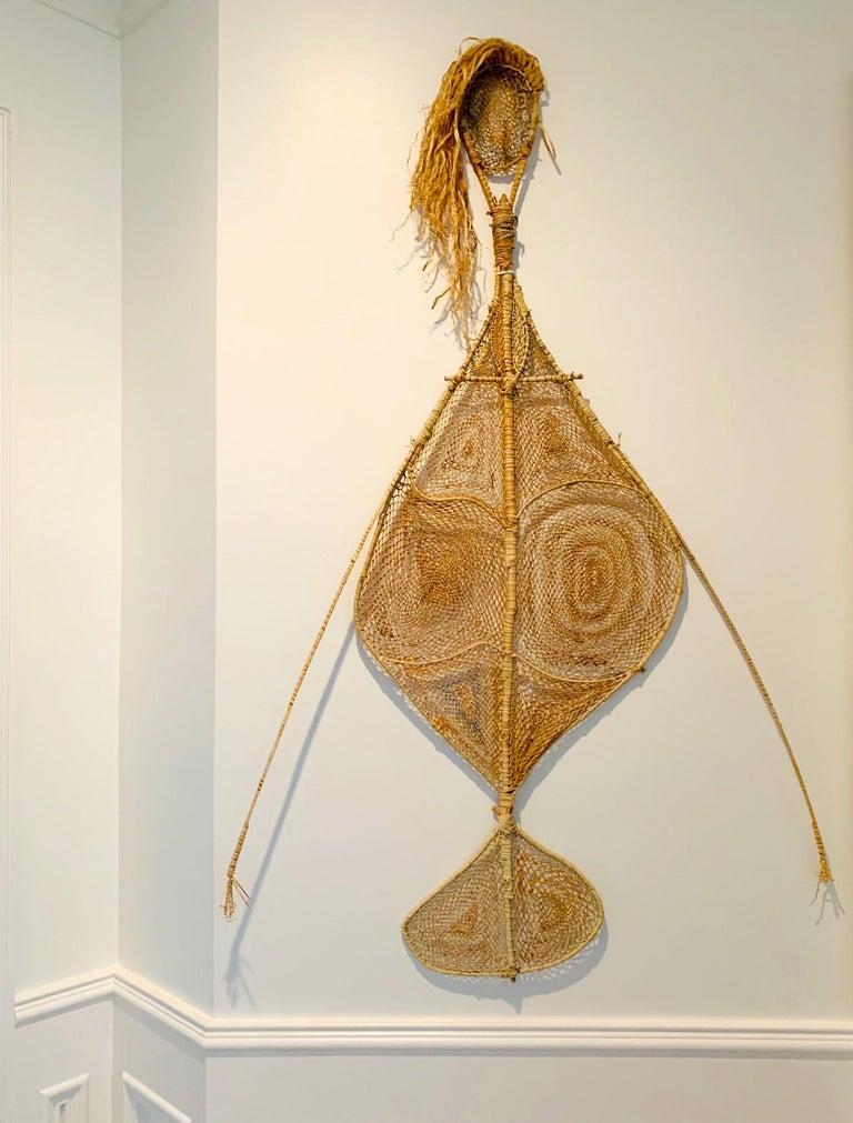 Natural Fiber Australian Aboriginal Yawkyawk Fiber Sculpture For Sale