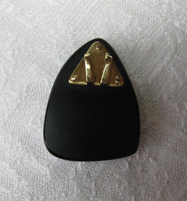 Australian Black Opal Onyx Earrings Pendant Made for Jessye Norman Opera Legend For Sale 5