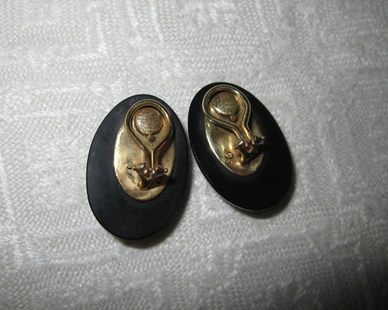 Australian Black Opal Onyx Earrings Pendant Made for Jessye Norman Opera Legend For Sale 10