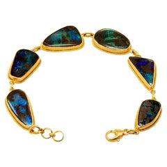 Steven Battelle Australian Boulder Opal Bracelet 18k Gold