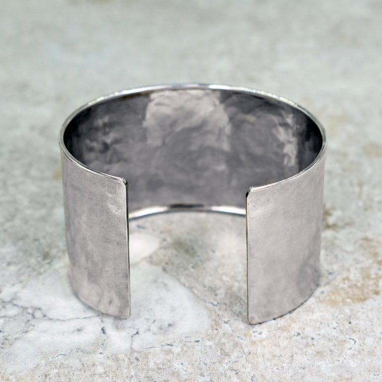 Contemporary Australian Boulder Opal Sterling Silver Statement Cuff Bracelet For Sale