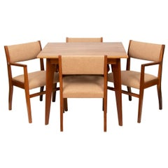 Australian Midcentury Walnut Dining Table & Chairs by Neil Morris, c.1950