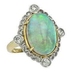 Australian Opal 5.70 Carat Diamond Cocktail Ring