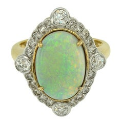 Australian Opal 5.80 Carat Diamond Cocktail Ring