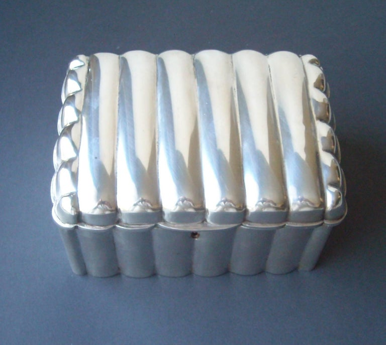 Vienna Secession Austria, Vienna, Silver Etrog or Sugar Box with Lock, Great Modern Look For Sale