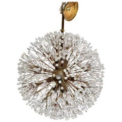 Austria Emil Stejnar Brass & Crystal Sputnik Chandelier Snowflake Rupert Nikoll