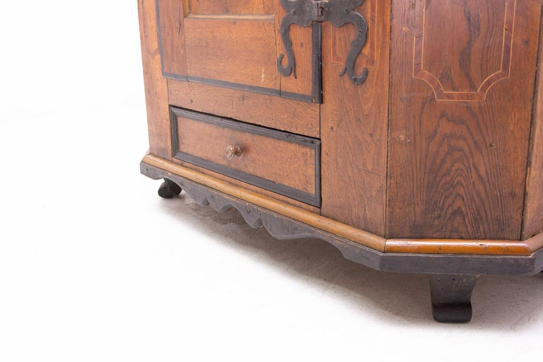 Austrian 18th Century Baroque Wardrobe For Sale 12