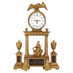 Austrian 18th Century Giltwood and Mecca Blind Mans Clock