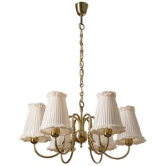 Austrian 1930s Brass Chandelier, J.T. Kalmar 'Attributed'