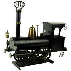 Austrian, 20th Century, Hagenauer Brass and Metal, Locomotive, in Black