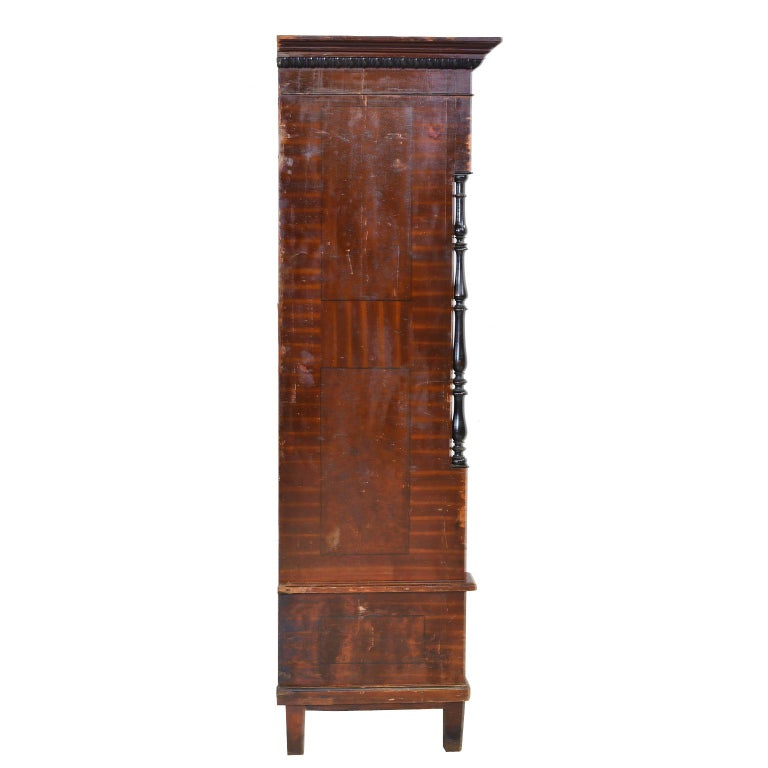 Austrian Armoire with Original Tooled Red/Maroon Painted Finish, circa 1800 For Sale 3