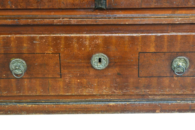 Austrian Armoire with Original Tooled Red/Maroon Painted Finish, circa 1800 For Sale 6