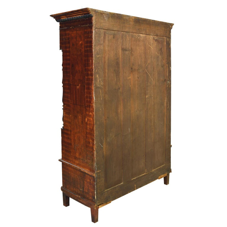 Austrian Armoire with Original Tooled Red/Maroon Painted Finish, circa 1800 For Sale 12
