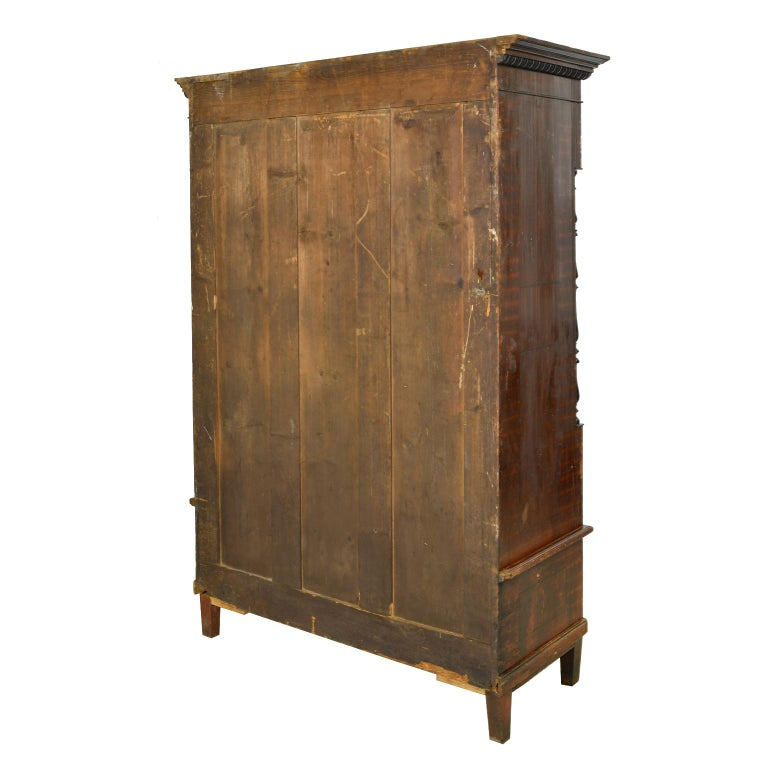 Austrian Armoire with Original Tooled Red/Maroon Painted Finish, circa 1800 For Sale 13