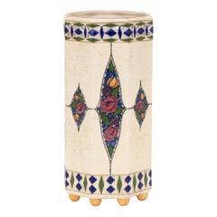 Austrian Art Deco Royal Vienna Hand Enameled Vase, circa 1930