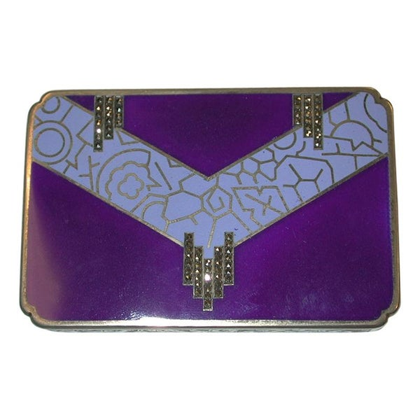 Austrian Art Deco Silver and Enamel Box, Dated circa 1920, 935 Standard Silver