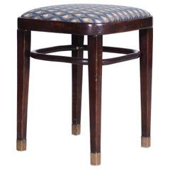 Austrian Art Deco Stool Tabourette Lacquered Wood, Fully Restored