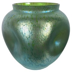 Austrian Art Nouveau Art Glass Bulbis Vase by Loetz