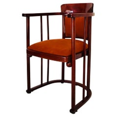 Austrian Art Nouveau Barrel Chair Josef Hoffmann Bent Wood for Kohn