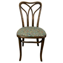 Austrian Art Nouveau Bentwood Side Chair Attributed to J & J Kohn, Early 1900's