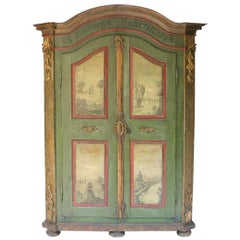 Austrian Baroque Painted Armoire
