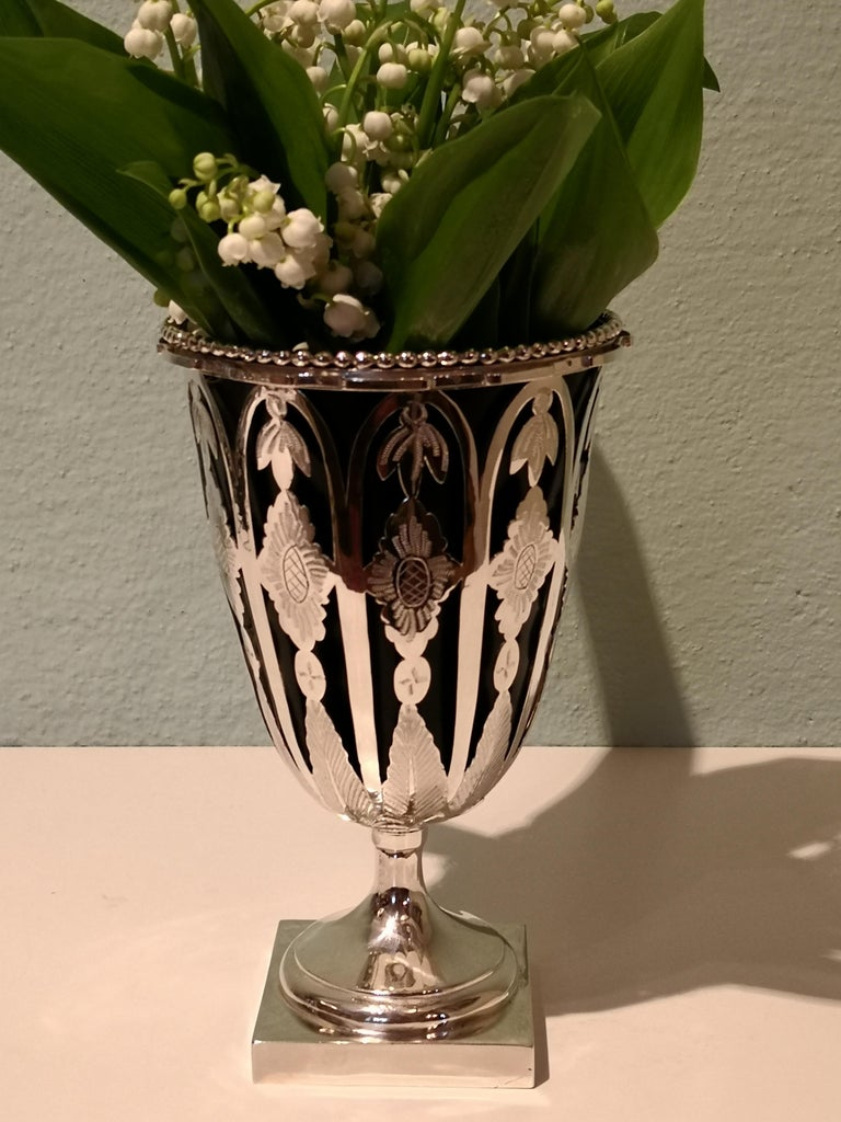 Austrian Biedermeier Silver Vase  For Sale 5