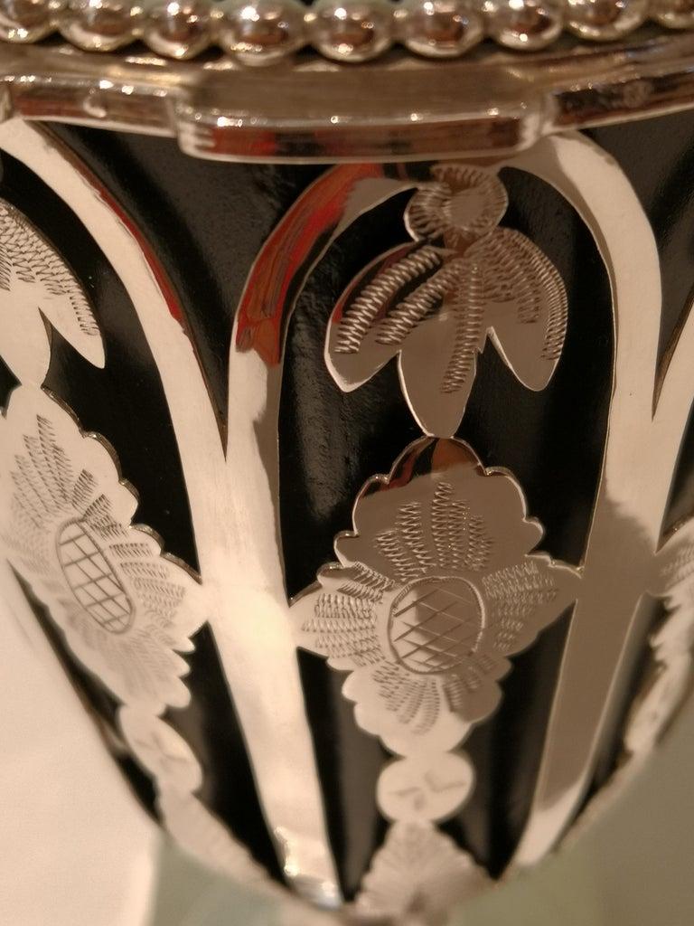 Austrian Biedermeier Silver Vase  For Sale 1