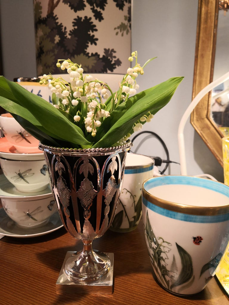 Austrian Biedermeier Silver Vase  For Sale 4