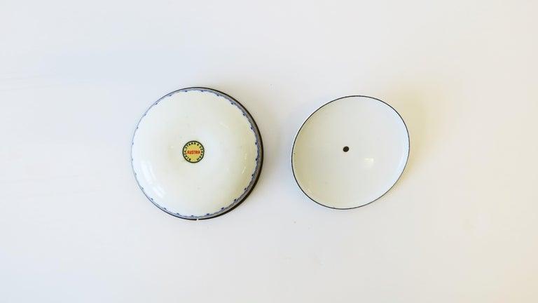 Austrian Blue White and Gold Porcelain Enamel Box For Sale 1