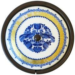 Austrian Blue White and Gold Porcelain Enamel Box