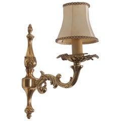 Austrian Brass Wall Lamp