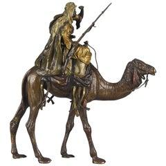 "Austrian Bronze ""Arab Warrior on Camel"" by Bergman"