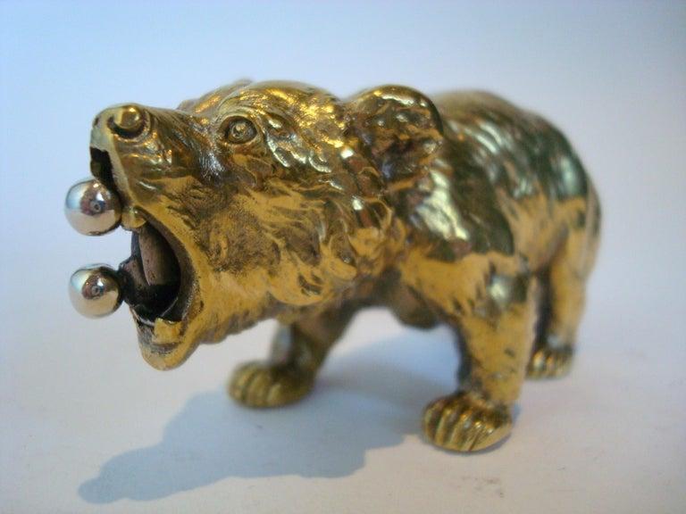 Austrian Bronze Bear Cigar Cutter, ca 1900´s For Sale 4