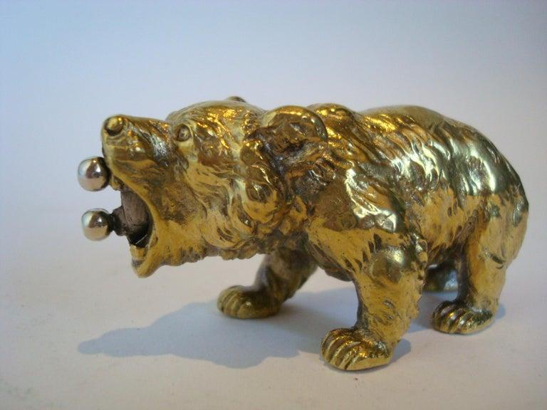 Art Deco Austrian Bronze Bear Cigar Cutter, ca 1900´s For Sale