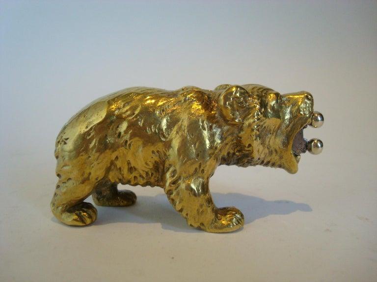 Cast Austrian Bronze Bear Cigar Cutter, ca 1900´s For Sale