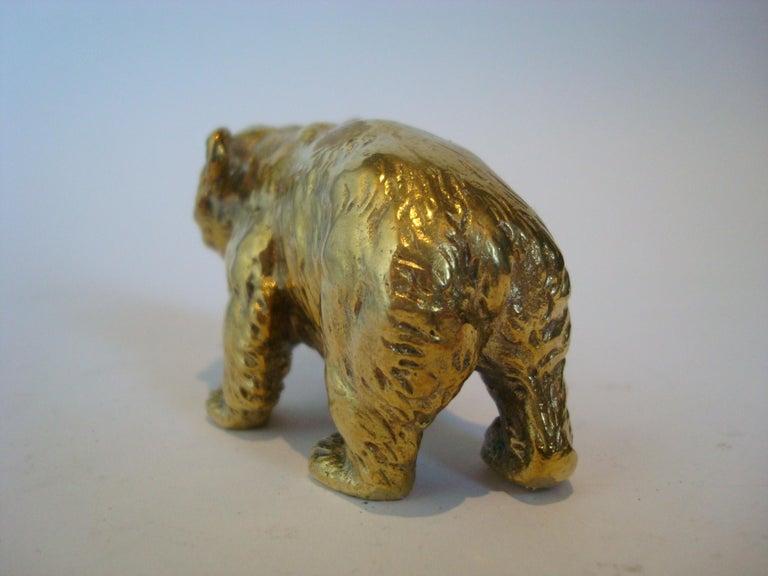 20th Century Austrian Bronze Bear Cigar Cutter, ca 1900´s For Sale